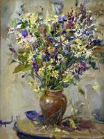 Картина букет полевых цветов