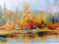 Летние пейзажи живопись картины